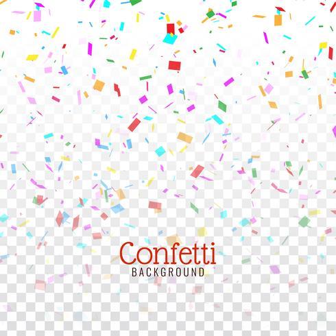Fondo de confeti colorido decorativo abstracto vector