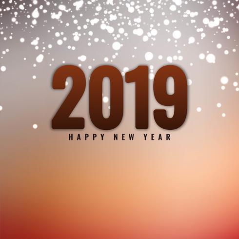 Abstrakt Gott nytt år 2019 hälsning bakgrund
