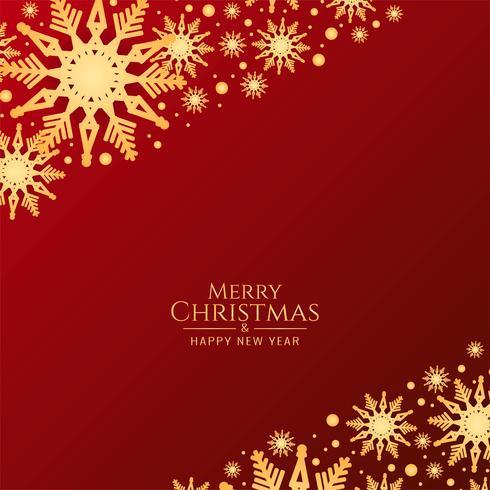 Abstrakt Glad jul röd bakgrund med snöflingor