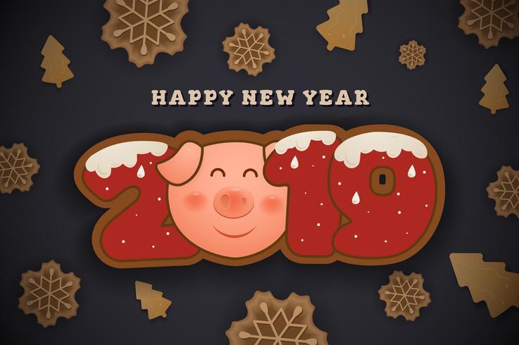 Gott nytt år och god julhälsningskort bakgrund des