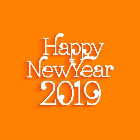 Abstracte gelukkig Nieuwjaar 2019 begroeting achtergrond
