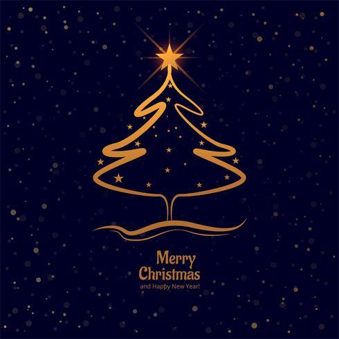 Vrolijke Kerstmisboom met kleurrijke kaartachtergrond