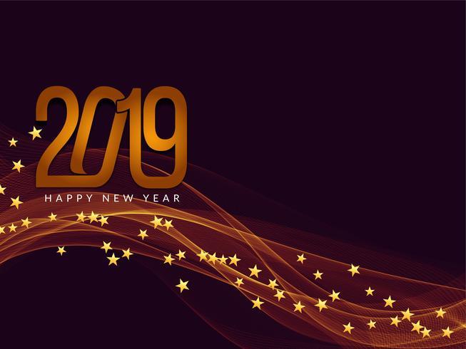 Gelukkig Nieuwjaar 2019 begroeting achtergrond
