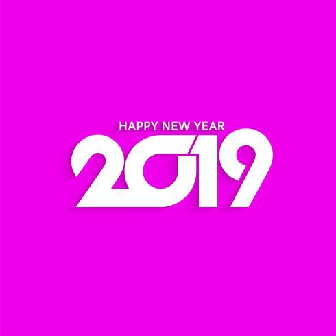 Abstrakt nyår 2019 stilig textdesign bakgrund