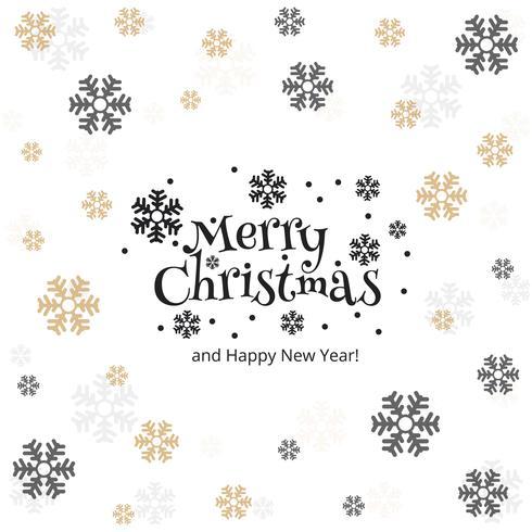 Merry christmas snowflake kaart achtergrond