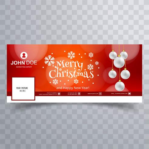 Schöne Schneeflocke der frohen Weihnachten mit Facebook-Fahne Templa