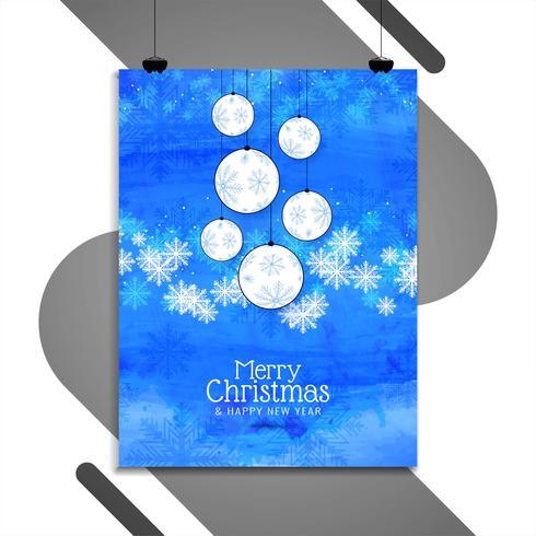 Glatt julfirande broschyrmall