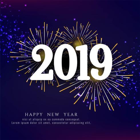Stijlvolle Nieuwjaarsgroet 2019 achtergrond