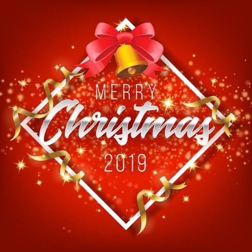Christmas Graphics 2019.Merry Christmas And Happy New Year 2019 Greeting Card