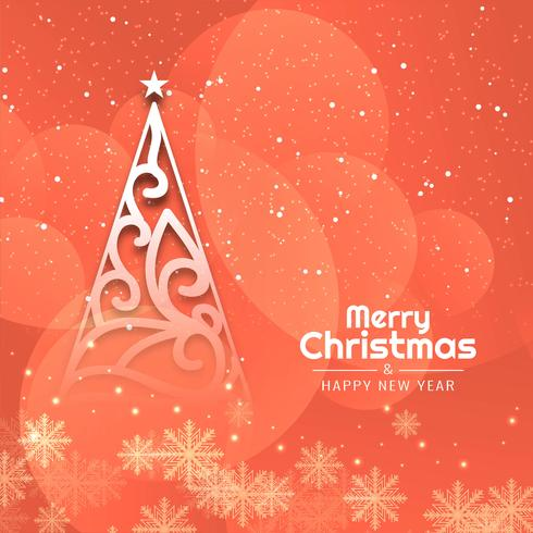 Abstracte decoratieve elegante Merry Christmas-achtergrond