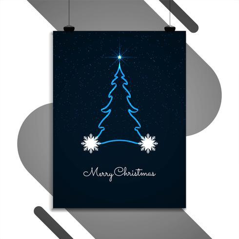 Abstrakt Merry Christmas broschyr design mall