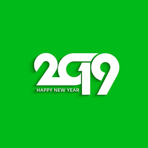 abstract new year 2019 decorative text design background