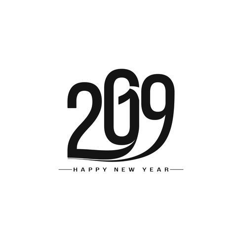 Abstrakt Gott nytt år 2019 textdesign bakgrund