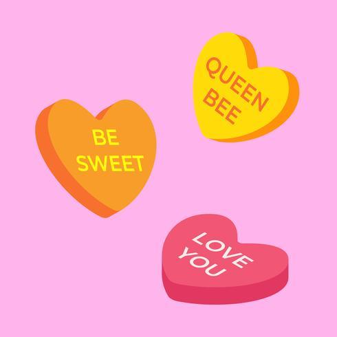 Valentine godis hjärtan