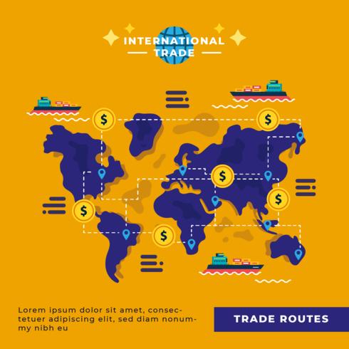 Vecteur de commerce international