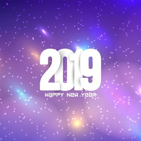 Gelukkig Nieuwjaar 2019 moderne achtergrond