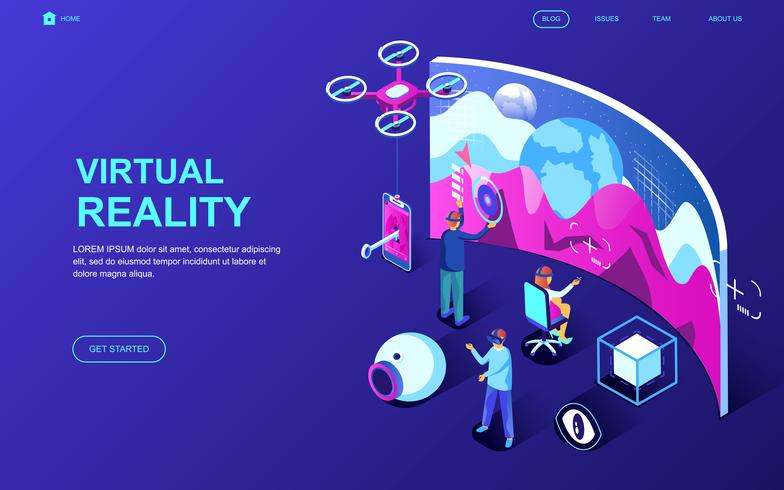 Virtual Augmented Reality Web Banner
