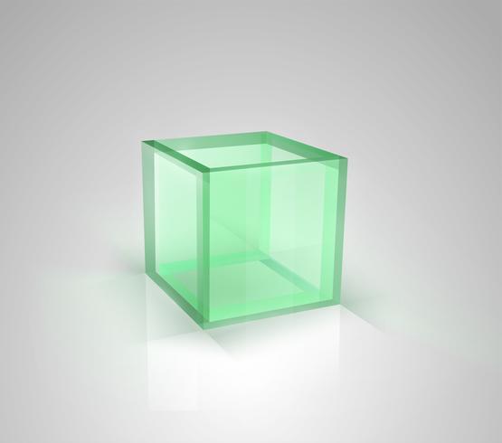 Caja de vidrio de vector