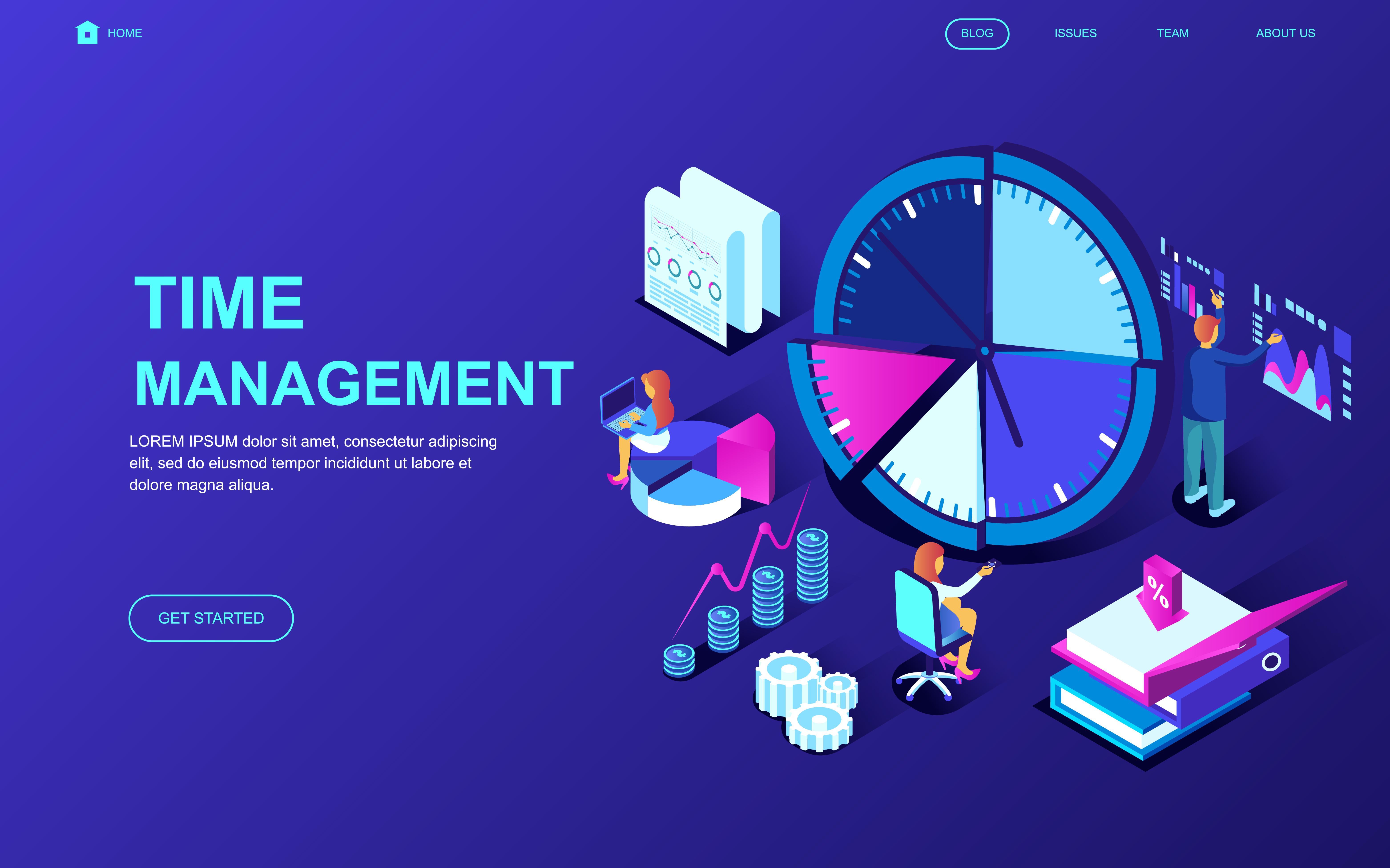 time management web banner
