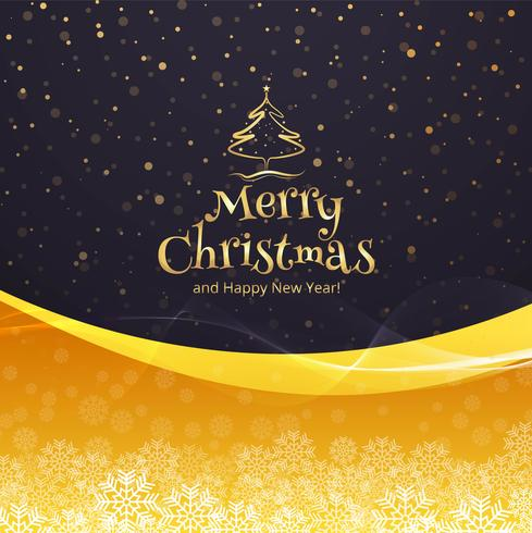 Beautiful merry christmas celebration colorful card background