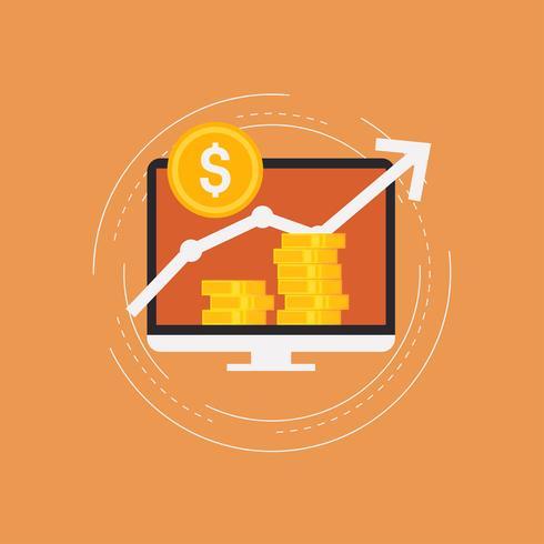Wachstum der Finanzinvestitionen vektor