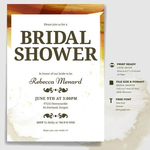 wedding shower invite template
