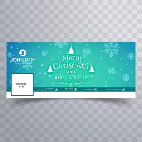 God julkort facebook banner mall design