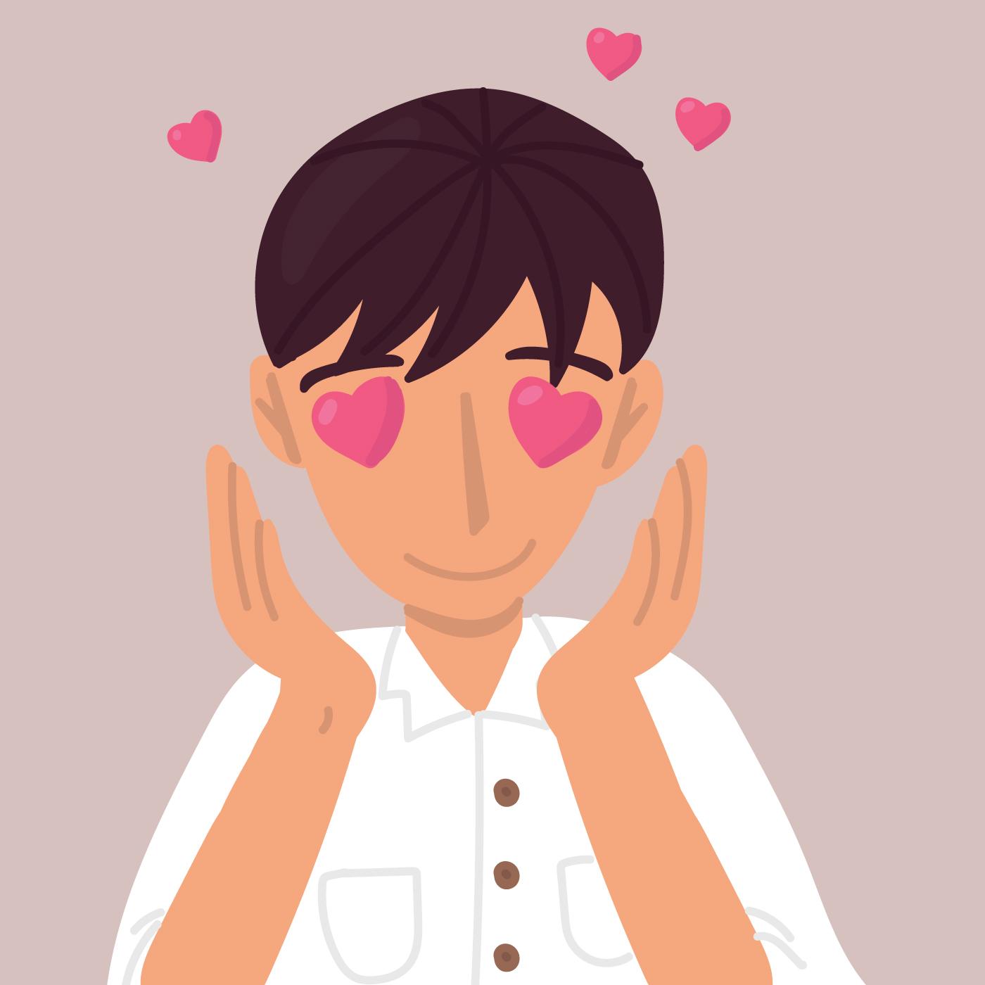 Dulce chico enamorado - Descargar Vectores Gratis