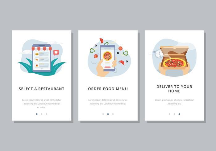 online food order template download free vector art stock