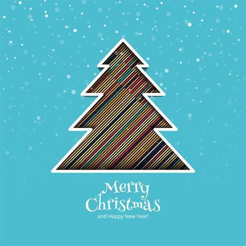 Fundo de cartão de celebração linda árvore de Natal feliz