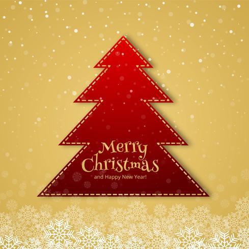 Bello fondo della carta di celebrazione dell'albero di Buon Natale