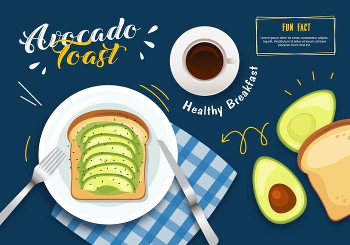 Avocado Toast Illustratie