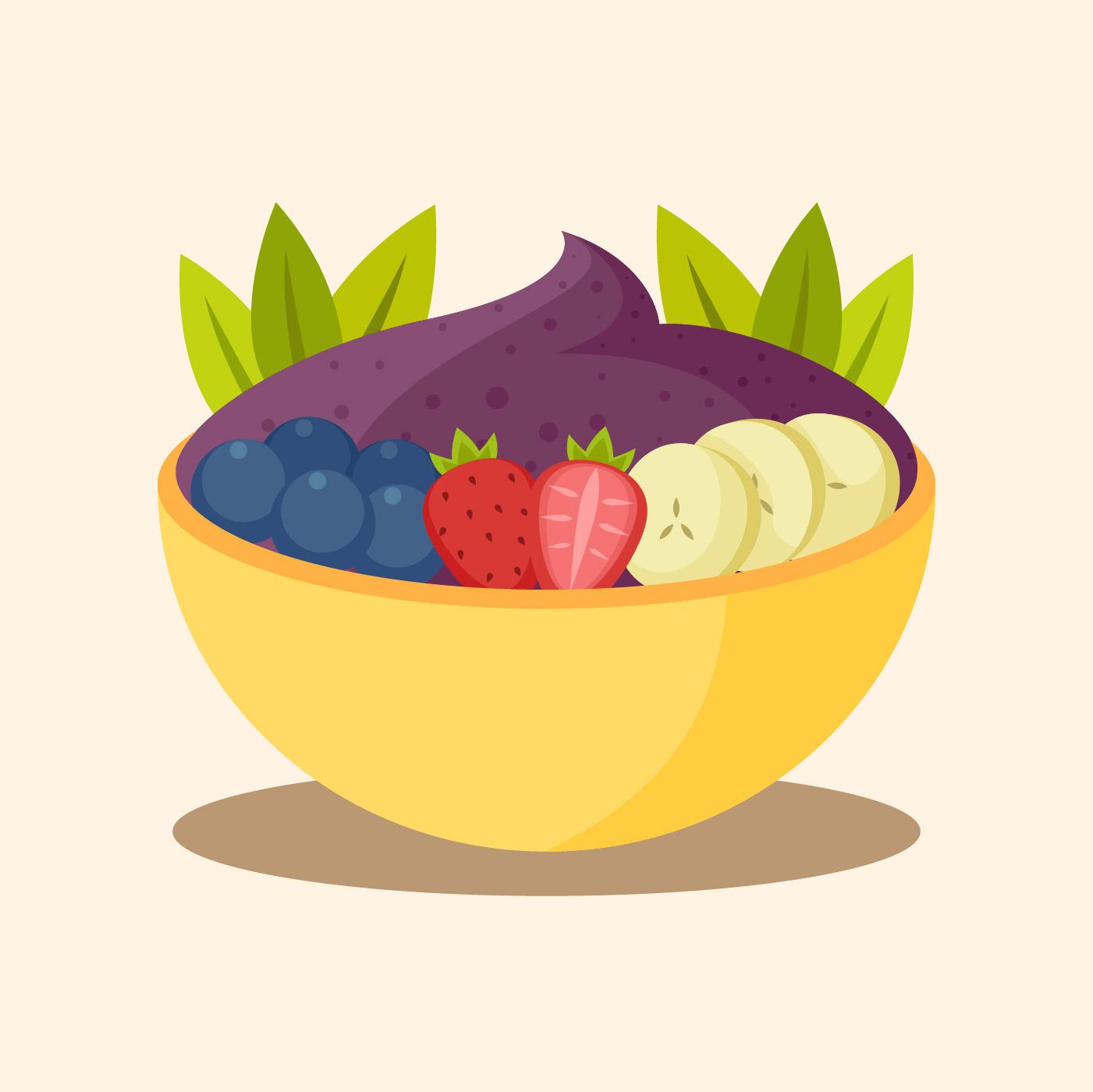 color acai bowl - Download Free Vectors, Clipart Graphics ... (1401 x 1400 Pixel)