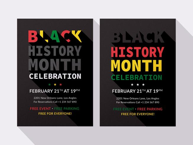 Black History Month Vector Flyer Templates