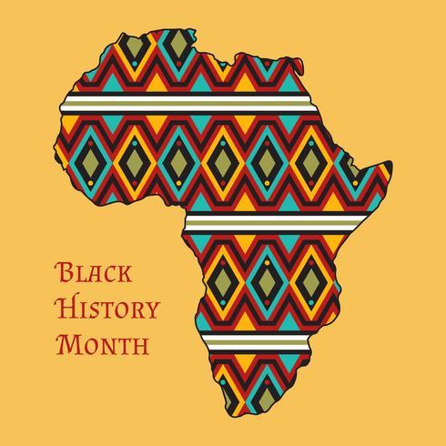 Vetores do mês da história de preto funky