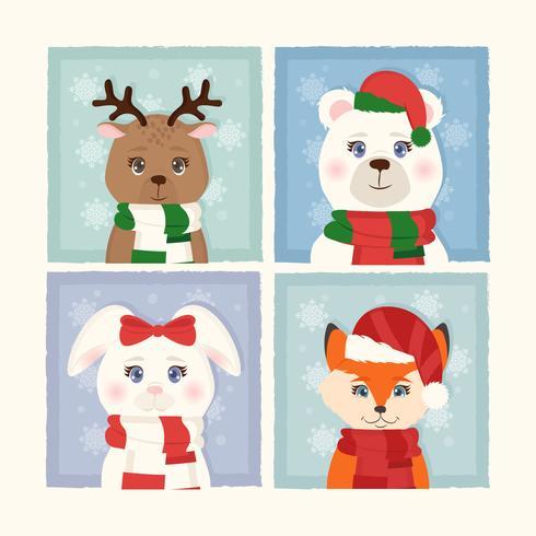Animaux de Noël de vecteur