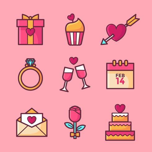 Valentines Day Elements Set Vector Download Free Vector Art Stock