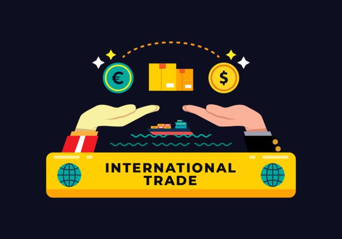 Vetor de negócios internacionais