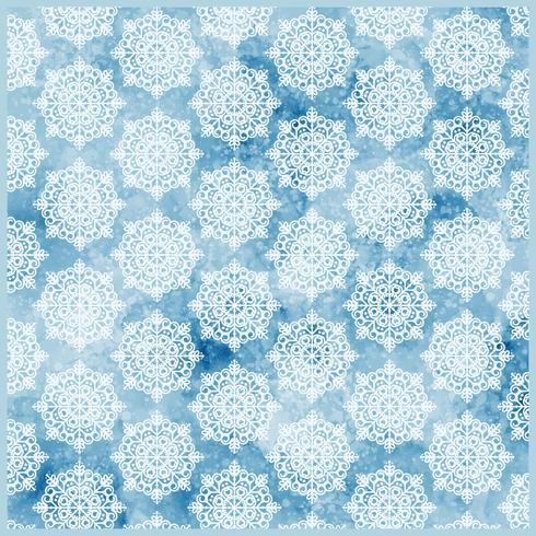 Vector de copos de nieve de patrones sin fisuras