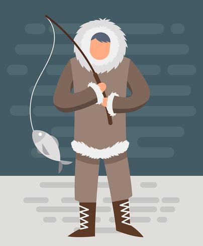 Ilustração dos esquimós