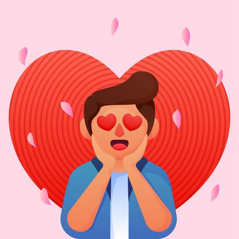 boy with heart eyes - Download Free Vectors, Clipart ...