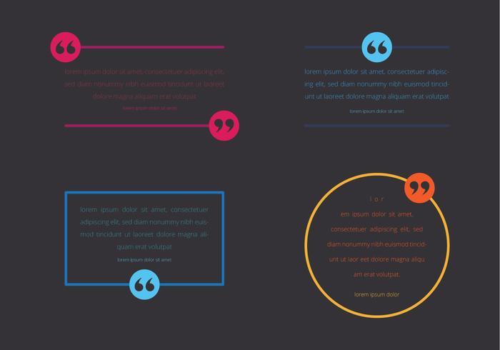 Testimonial Design. Consumer Testimoni. Kundrecension. Citat text bubbla. Kommas, notera, meddelande och kommentar Vektor illustration