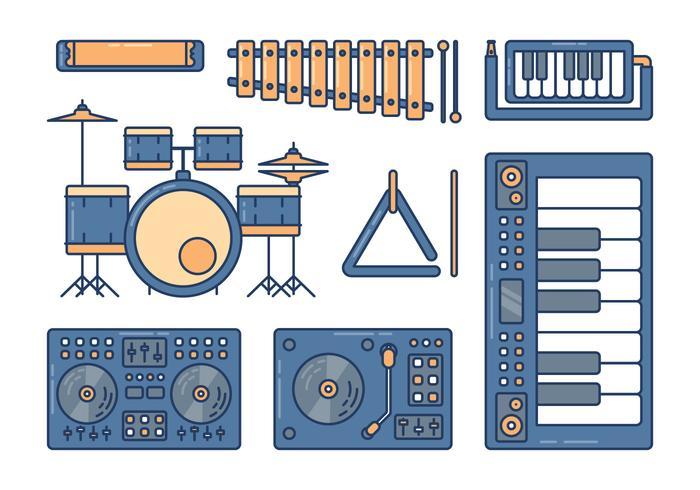 Musical Instruments Knolling Set