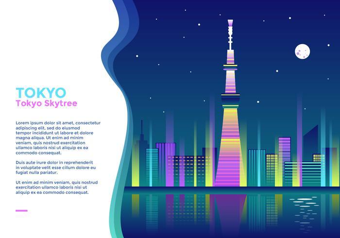 tokyo skytree vektor