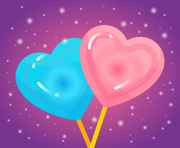 cuori di caramelle di San Valentino