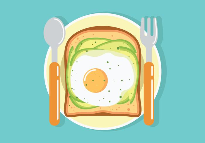 Avocado-Toast-Vektor-Illustration