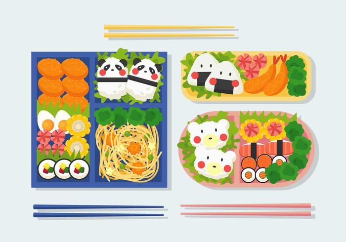 Bento Box Illustration