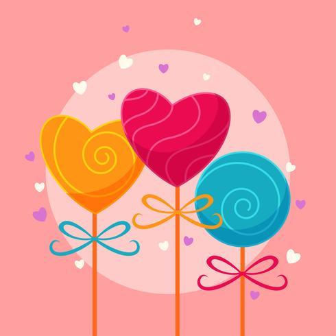 corações de doces dos namorados