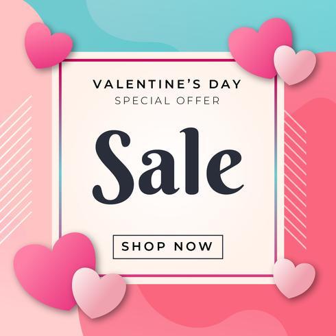 Affiche de vente de Saint Valentin