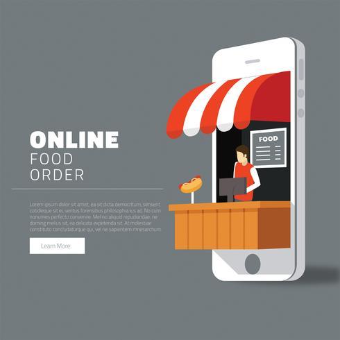 Progettazione di vettore di ordine alimentare online